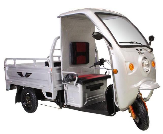 Tricicleta electrica cu remorca Volta VT5B - gri