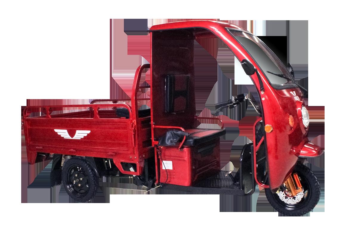 Tricicleta electrica cu remorca Volta VT5B - rosu